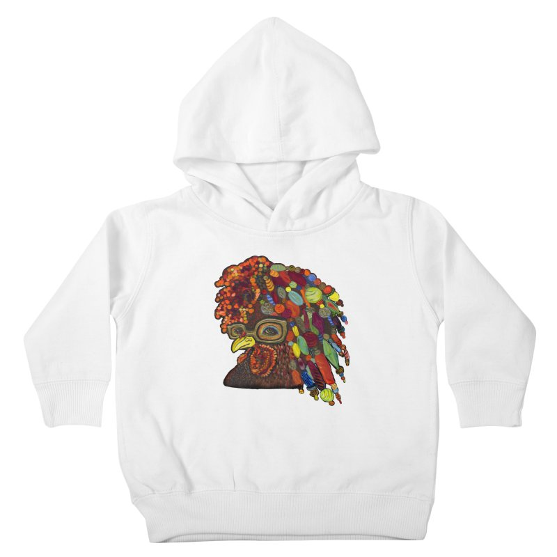 Mardi Gras Rooster Kids Toddler Pullover Hoody by Julie Murphy's Artist Shop