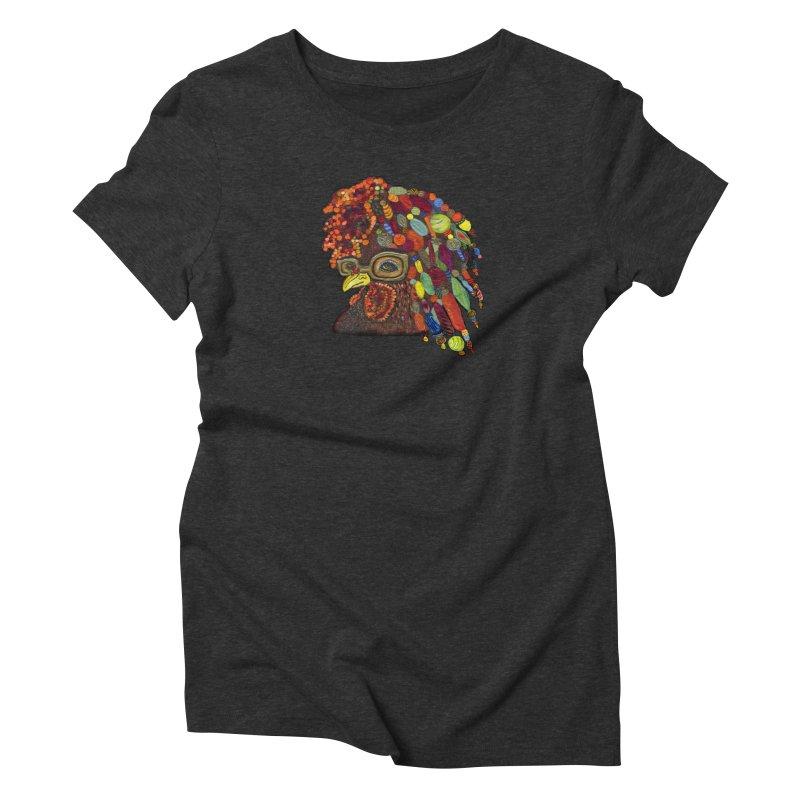 Mardi Gras Rooster Women's Triblend T-shirt by Julie Murphy's Artist Shop