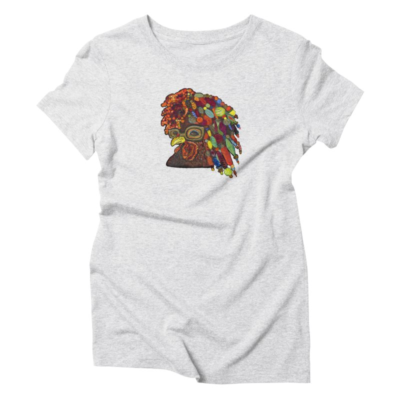 Mardi Gras Rooster Women's Triblend T-Shirt by Julie Murphy's Artist Shop