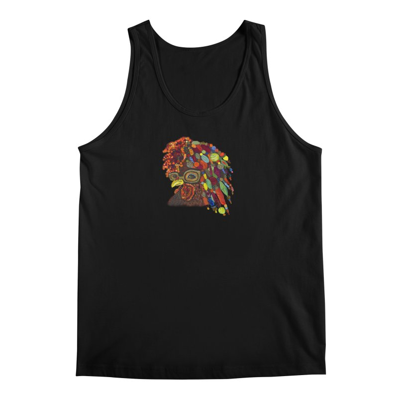 Mardi Gras Rooster Men's Tank by Julie Murphy's Artist Shop