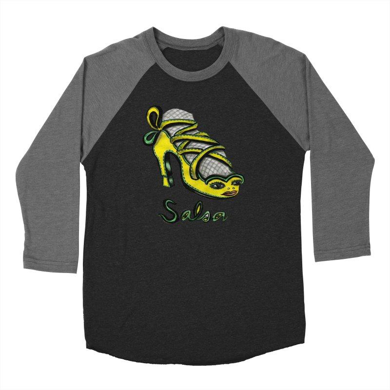 Magic Salsa Shoe Women's Baseball Triblend T-Shirt by Julie Murphy's Artist Shop