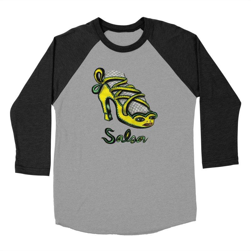 Magic Salsa Shoe Women's Baseball Triblend Longsleeve T-Shirt by Julie Murphy's Artist Shop