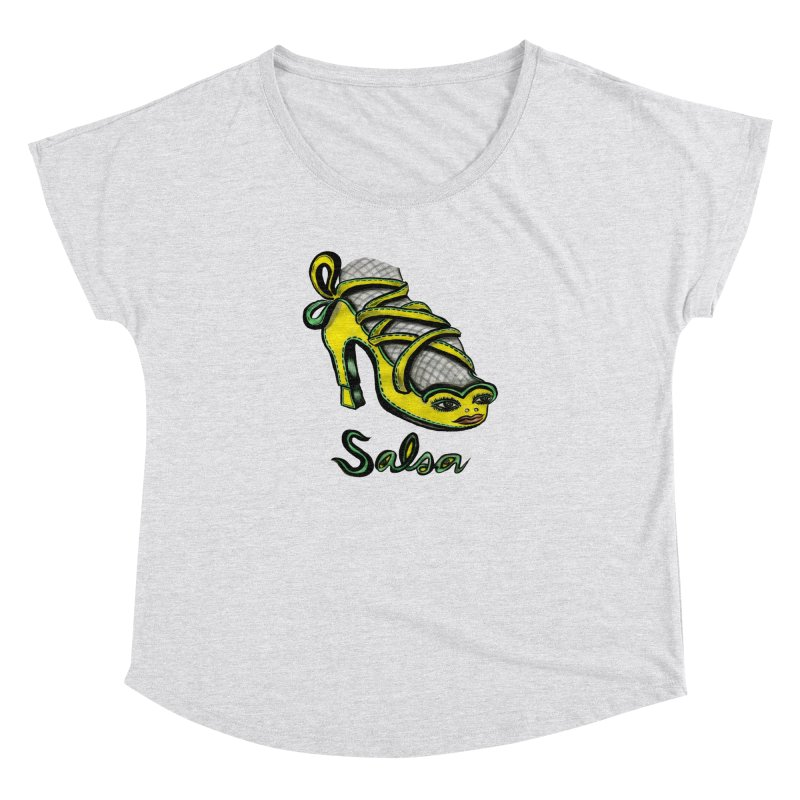 Magic Salsa Shoe Women's Dolman Scoop Neck by Julie Murphy's Artist Shop
