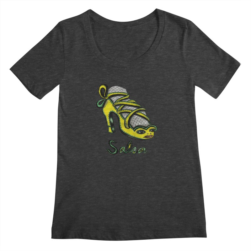 Magic Salsa Shoe Women's Scoopneck by Julie Murphy's Artist Shop