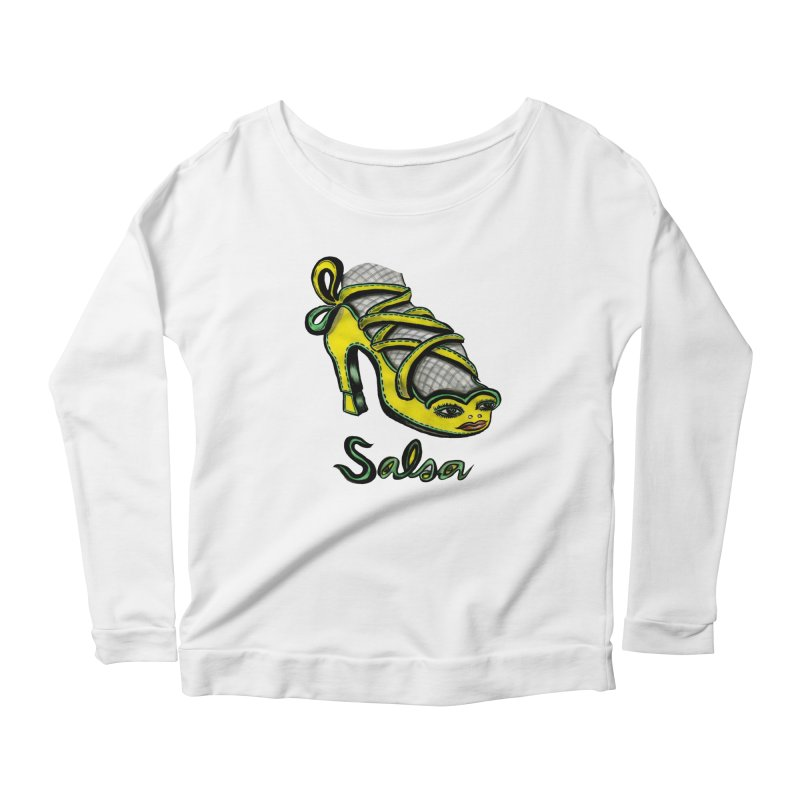 Magic Salsa Shoe Women's Longsleeve Scoopneck  by Julie Murphy's Artist Shop