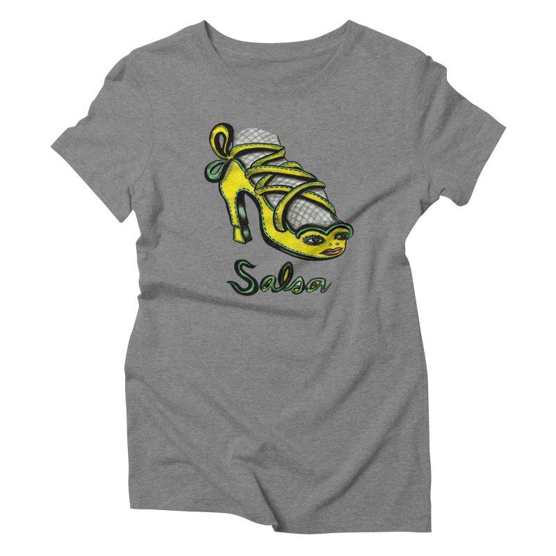 Magic Salsa Shoe Women's Triblend T-Shirt by Julie Murphy's Artist Shop