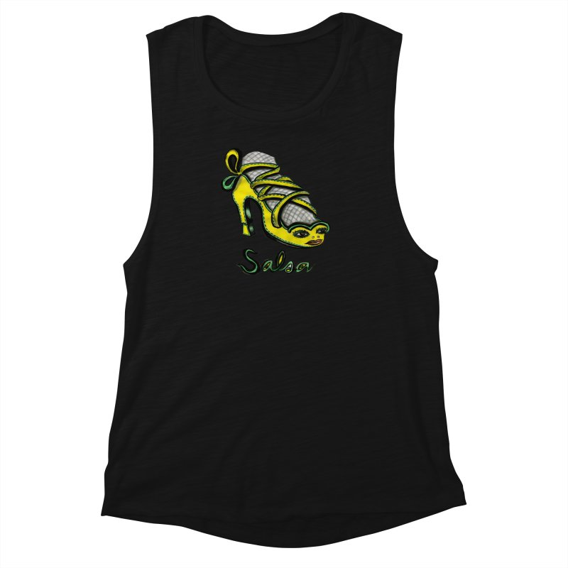 Magic Salsa Shoe Women's Muscle Tank by Julie Murphy's Artist Shop
