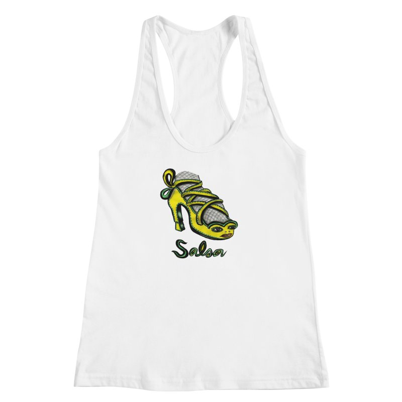 Magic Salsa Shoe Women's Racerback Tank by Julie Murphy's Artist Shop