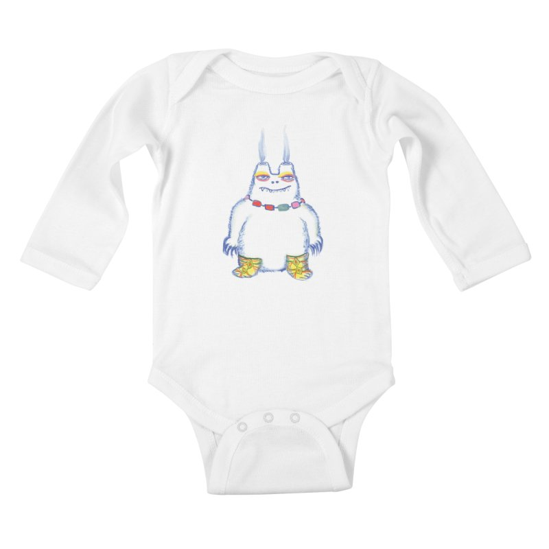 Craig Burns in Kids Baby Longsleeve Bodysuit White by Julie Murphy's Artist Shop