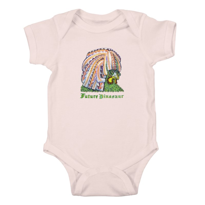 Alejandro Moonbeam Kids Baby Bodysuit by Julie Murphy's Artist Shop