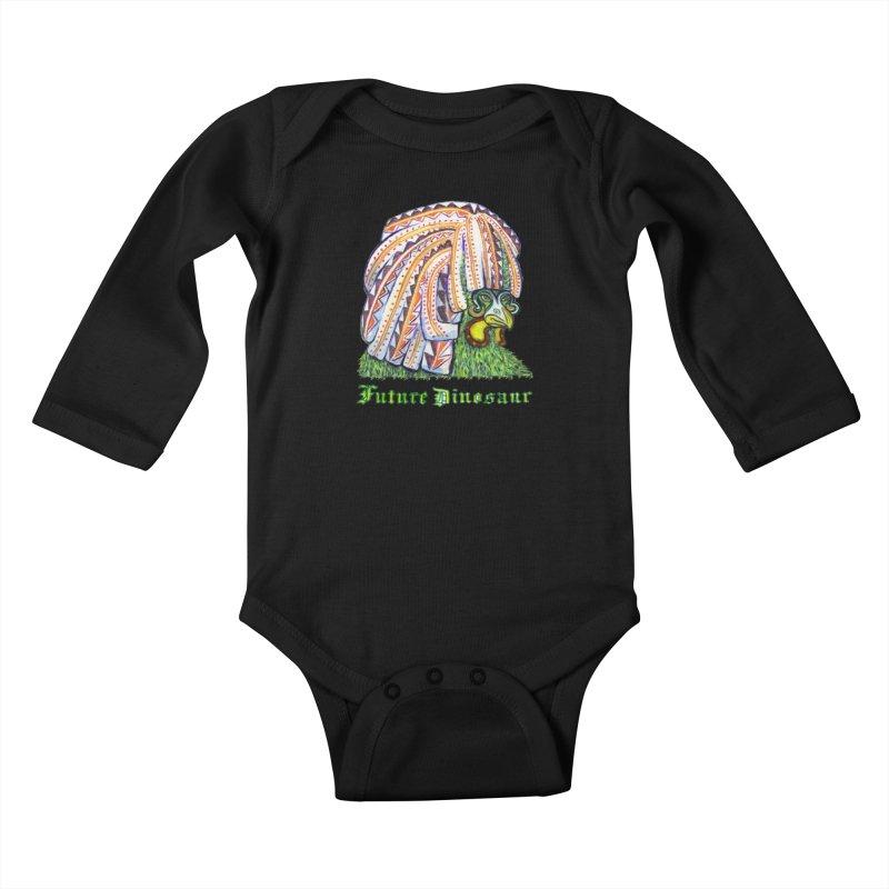 Alejandro Moonbeam Kids Baby Longsleeve Bodysuit by Julie Murphy's Artist Shop