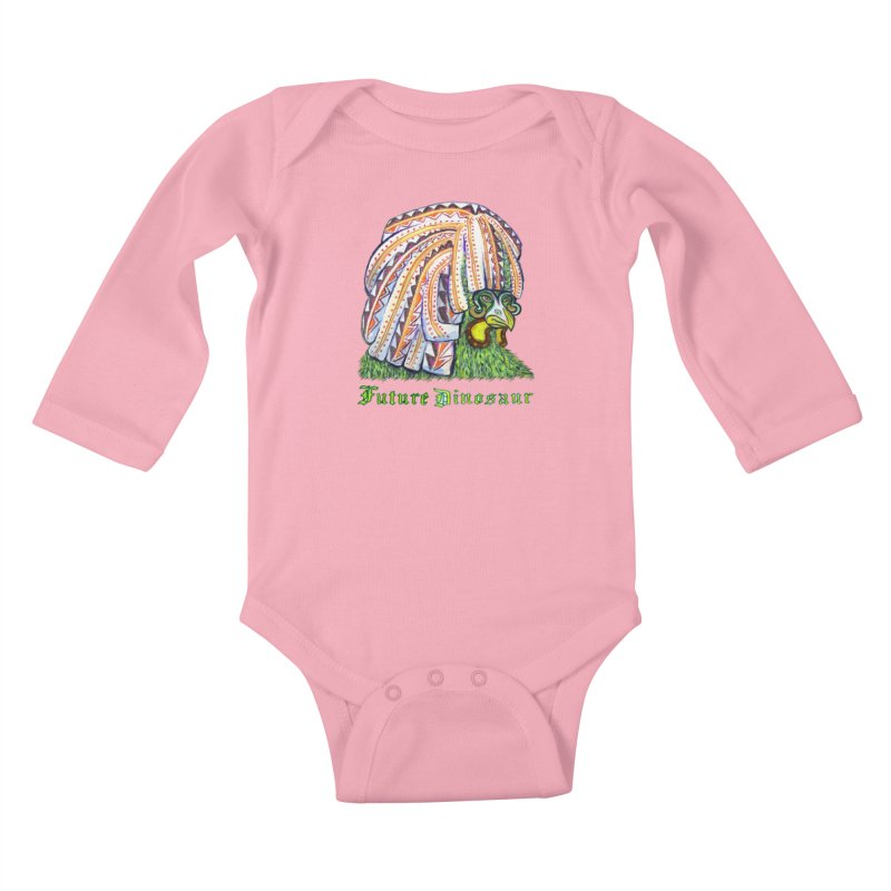 Alejandro Moonbeam Kids Baby Longsleeve Bodysuit by Julie Murphy's Artist Shop