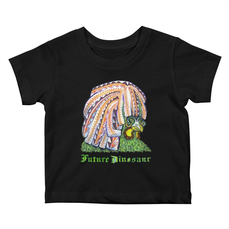 Alejandro Moonbeam in Kids Baby T-Shirt Black by Julie Murphy's Artist Shop