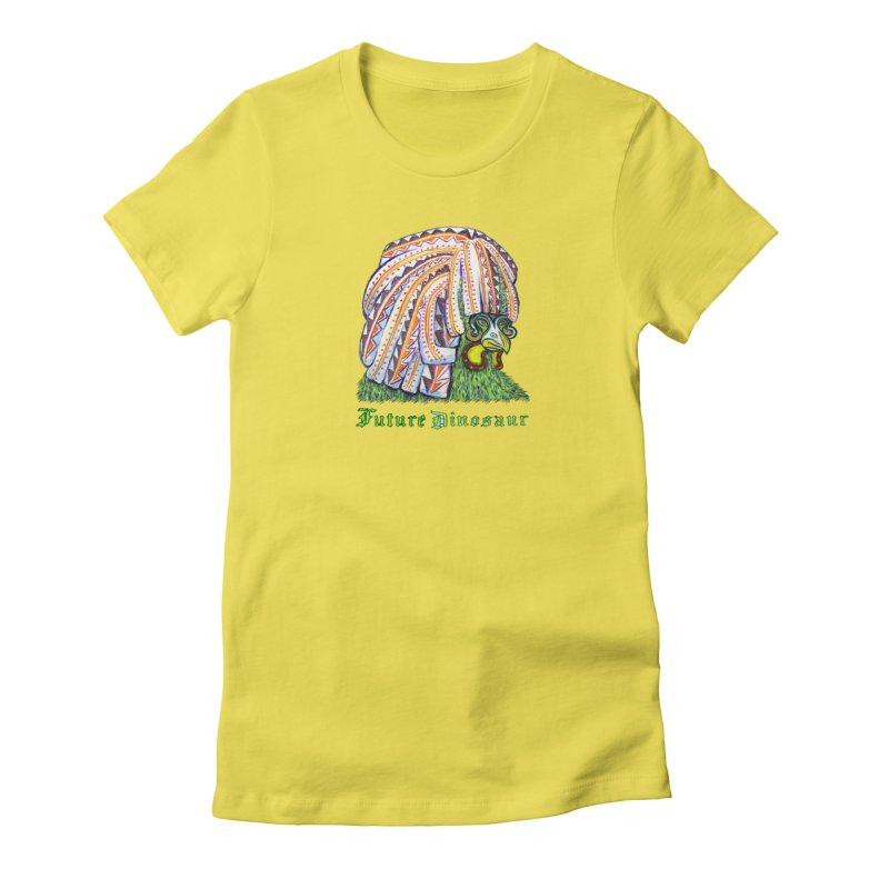 Alejandro Moonbeam in Women's Fitted T-Shirt Vibrant Yellow by Julie Murphy's Artist Shop