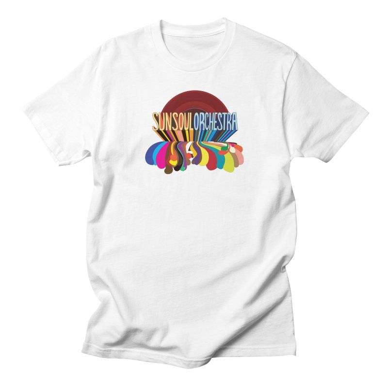 Sun Soul Orchestra in Men's Regular T-Shirt White by Julie Murphy's Artist Shop