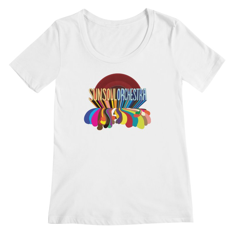 Sun Soul Orchestra Women's Regular Scoop Neck by Julie Murphy's Artist Shop