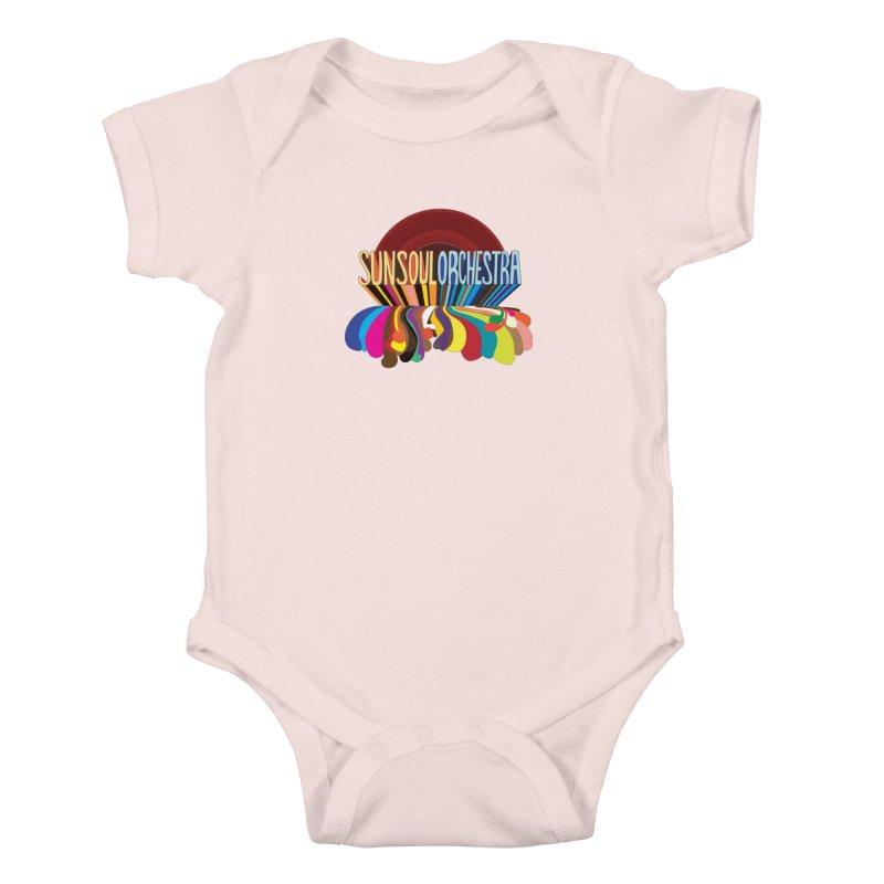 Sun Soul Orchestra Kids Baby Bodysuit by Julie Murphy's Artist Shop