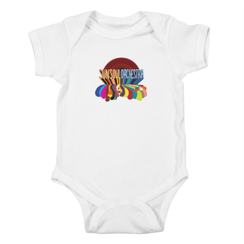 Sun Soul Orchestra in Kids Baby Bodysuit White by Julie Murphy's Artist Shop