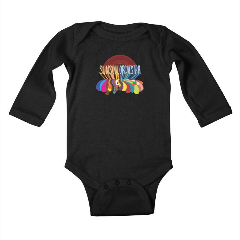 Sun Soul Orchestra Kids Baby Longsleeve Bodysuit by Julie Murphy's Artist Shop