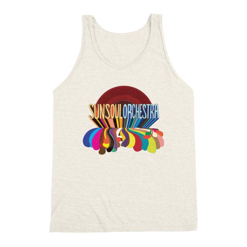 Sun Soul Orchestra Men's Triblend Tank by Julie Murphy's Artist Shop