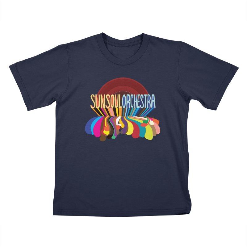 Sun Soul Orchestra Kids T-Shirt by Julie Murphy's Artist Shop