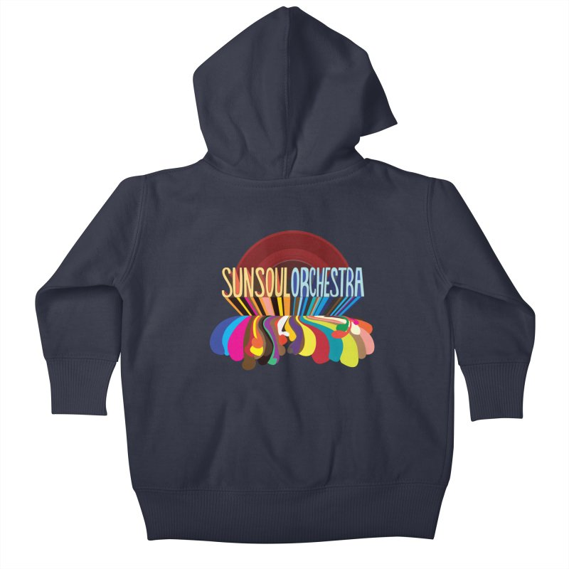 Sun Soul Orchestra Kids Baby Zip-Up Hoody by Julie Murphy's Artist Shop