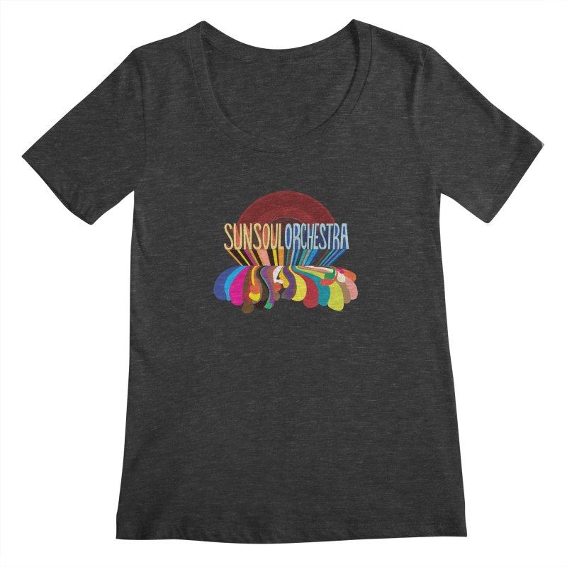 Sun Soul Orchestra Women's Scoopneck by Julie Murphy's Artist Shop