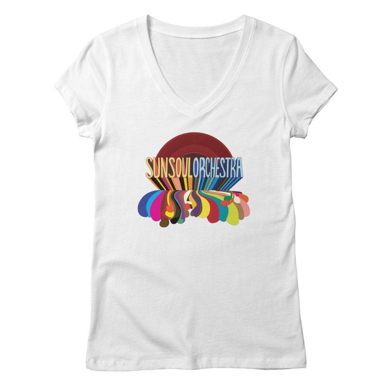 Sun Soul Orchestra Women's V-Neck by Julie Murphy's Artist Shop