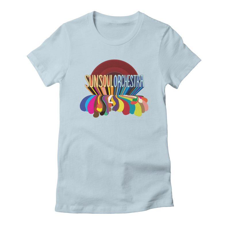 Sun Soul Orchestra Women's Fitted T-Shirt by Julie Murphy's Artist Shop