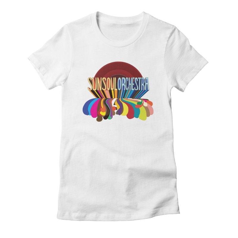 Sun Soul Orchestra Women's Fitted T-Shirt by Julie Murphy's Artist Shop