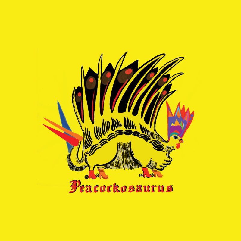 Peacockosaurus Women's V-Neck by Julie Murphy's Artist Shop