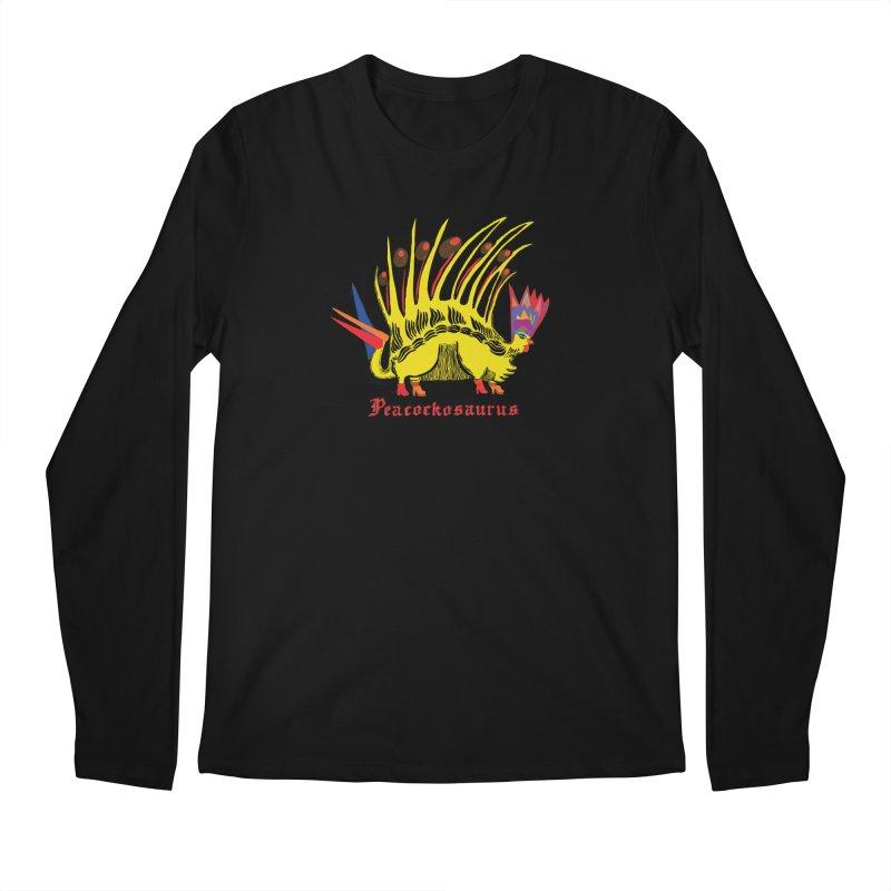 Peacockosaurus Men's Regular Longsleeve T-Shirt by Julie Murphy's Artist Shop