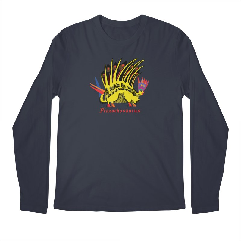 Peacockosaurus Men's Longsleeve T-Shirt by Julie Murphy's Artist Shop