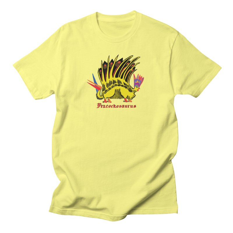 Peacockosaurus Women's Regular Unisex T-Shirt by Julie Murphy's Artist Shop
