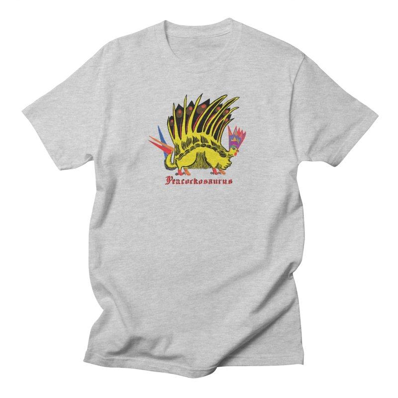 Peacockosaurus Men's Regular T-Shirt by Julie Murphy's Artist Shop