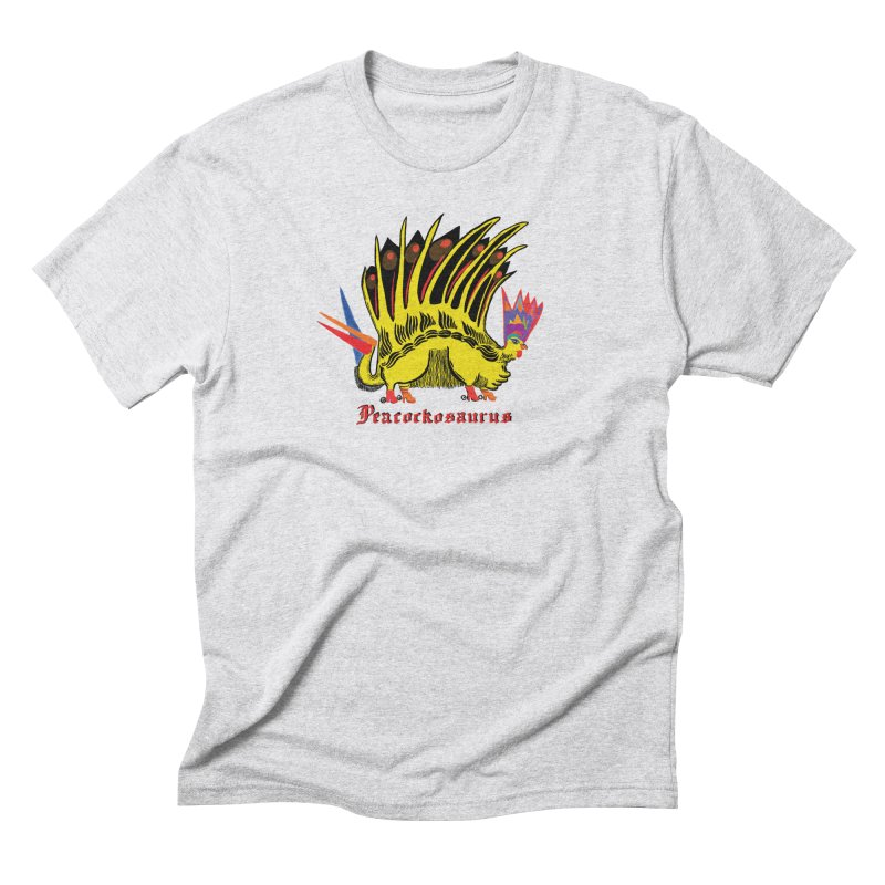 Peacockosaurus Men's Triblend T-Shirt by Julie Murphy's Artist Shop