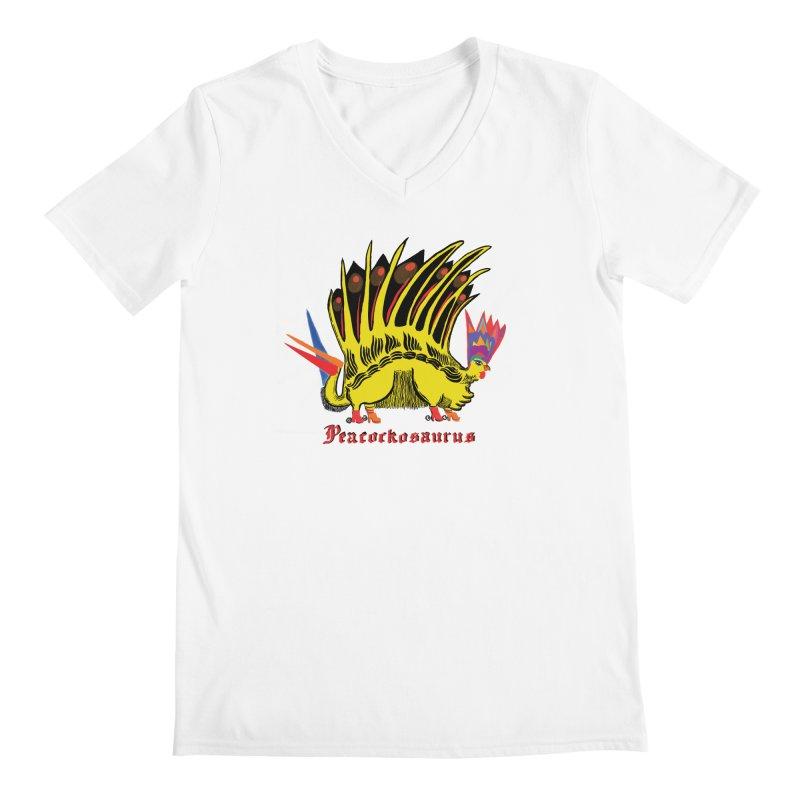 Peacockosaurus Men's V-Neck by Julie Murphy's Artist Shop