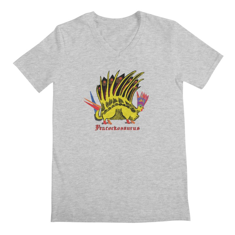 Peacockosaurus Men's V-Neck by Julie Murphy's Artist Shop
