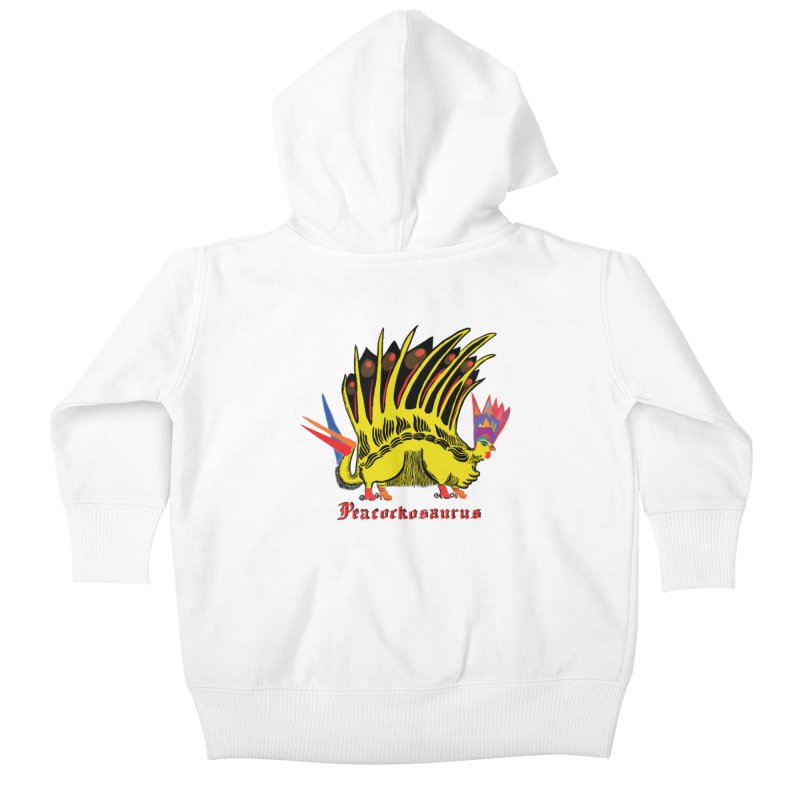 Peacockosaurus Kids Baby Zip-Up Hoody by Julie Murphy's Artist Shop