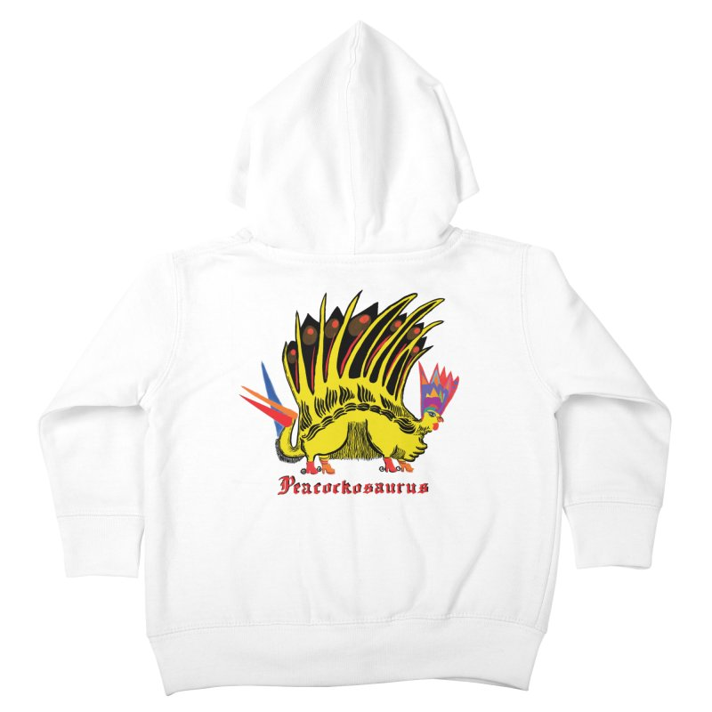Peacockosaurus Kids Toddler Zip-Up Hoody by Julie Murphy's Artist Shop