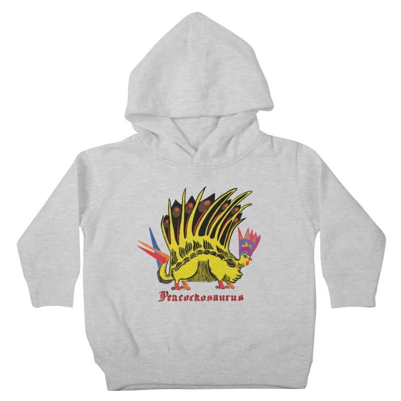 Peacockosaurus Kids Toddler Pullover Hoody by Julie Murphy's Artist Shop