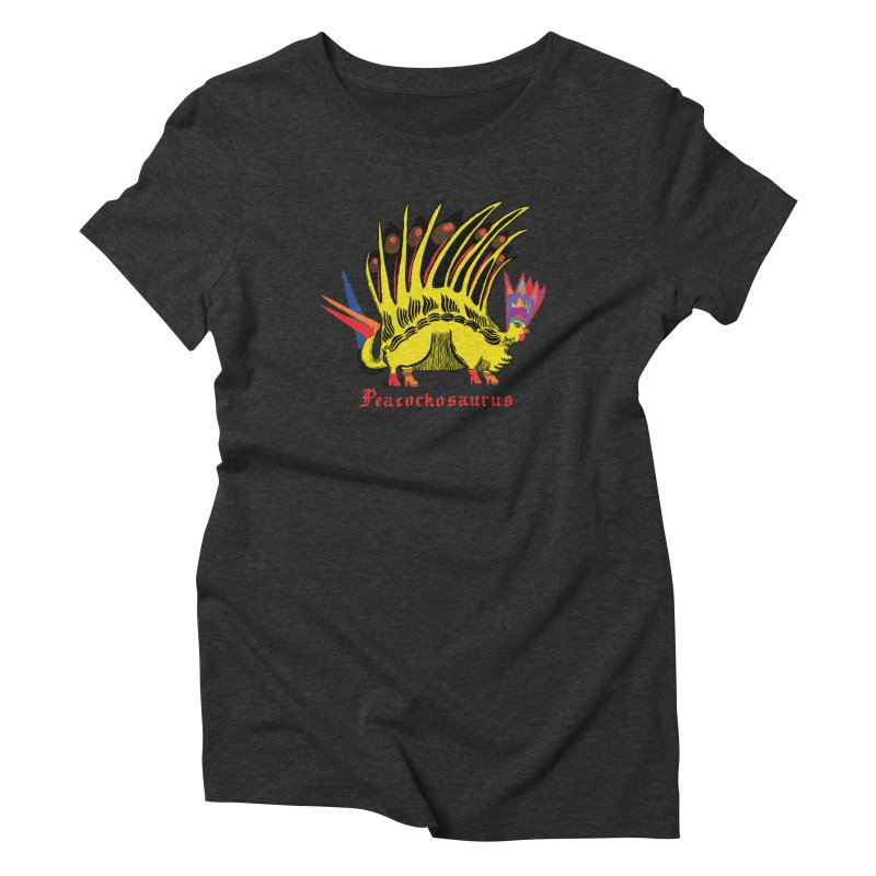 Peacockosaurus Women's Triblend T-Shirt by Julie Murphy's Artist Shop