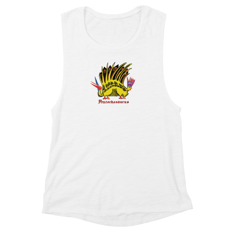 Peacockosaurus Women's Muscle Tank by Julie Murphy's Artist Shop