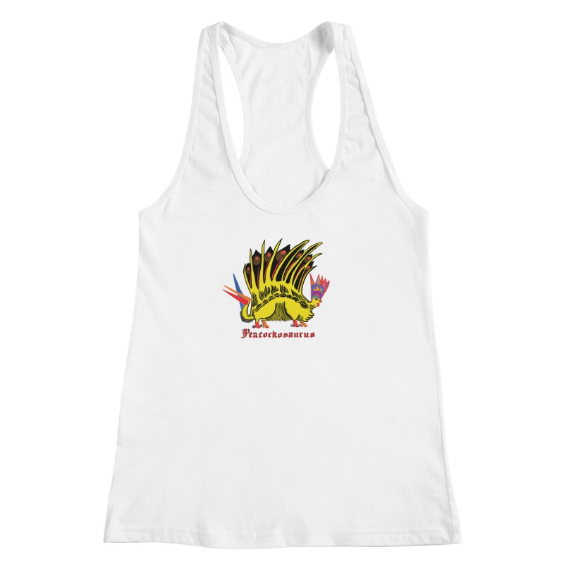 Peacockosaurus Women's Racerback Tank by Julie Murphy's Artist Shop