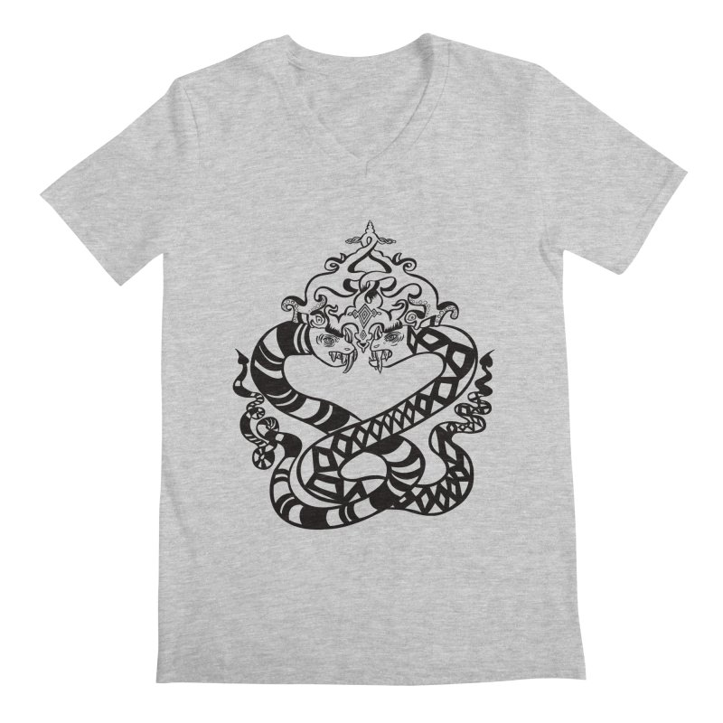 Lovelocked Men's Regular V-Neck by Julie Murphy's Artist Shop