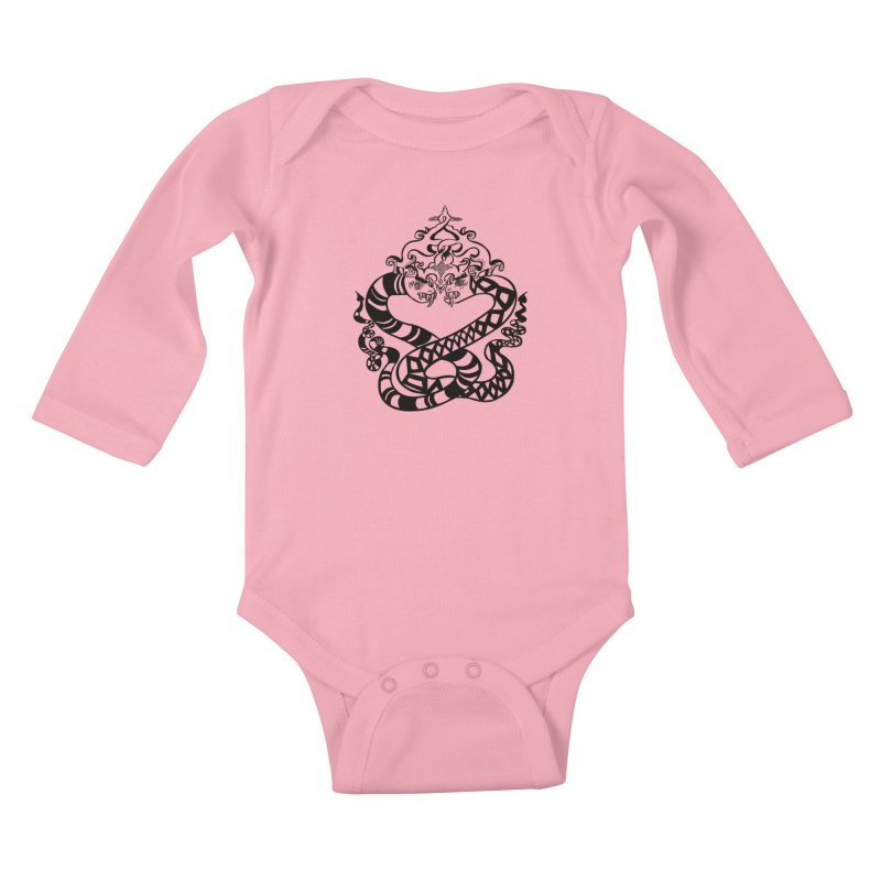Lovelocked Kids Baby Longsleeve Bodysuit by Julie Murphy's Artist Shop
