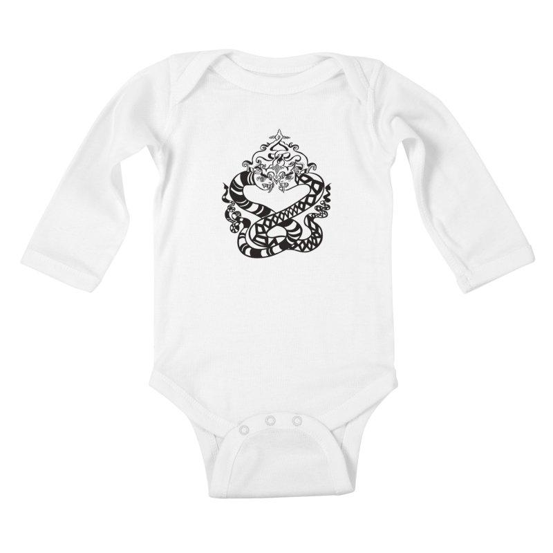 Lovelocked Kids Baby Longsleeve Bodysuit by Julie Murphy's Artist Shop