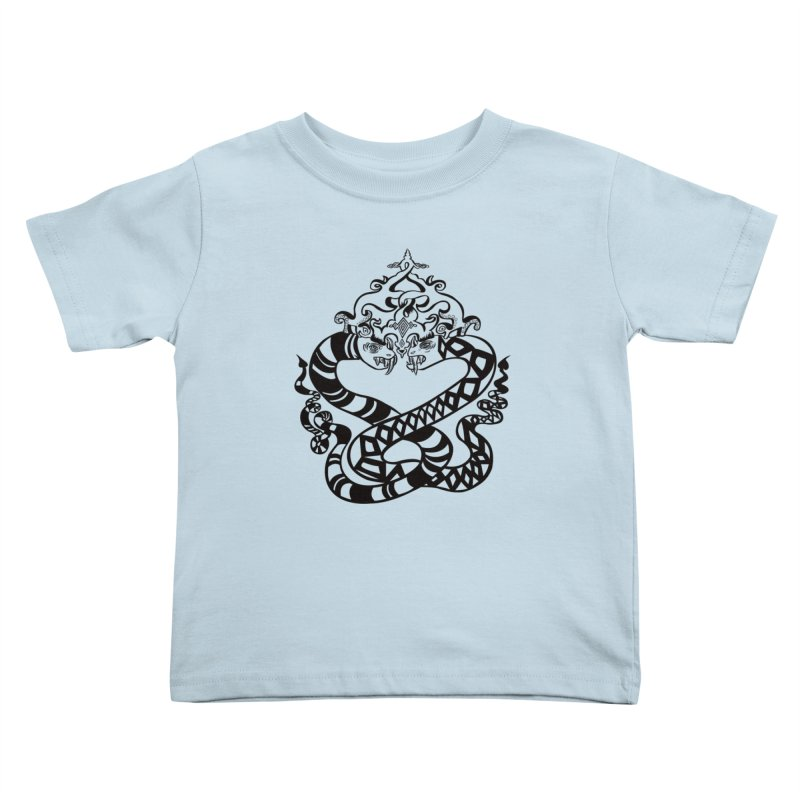 Lovelocked Kids Toddler T-Shirt by Julie Murphy's Artist Shop