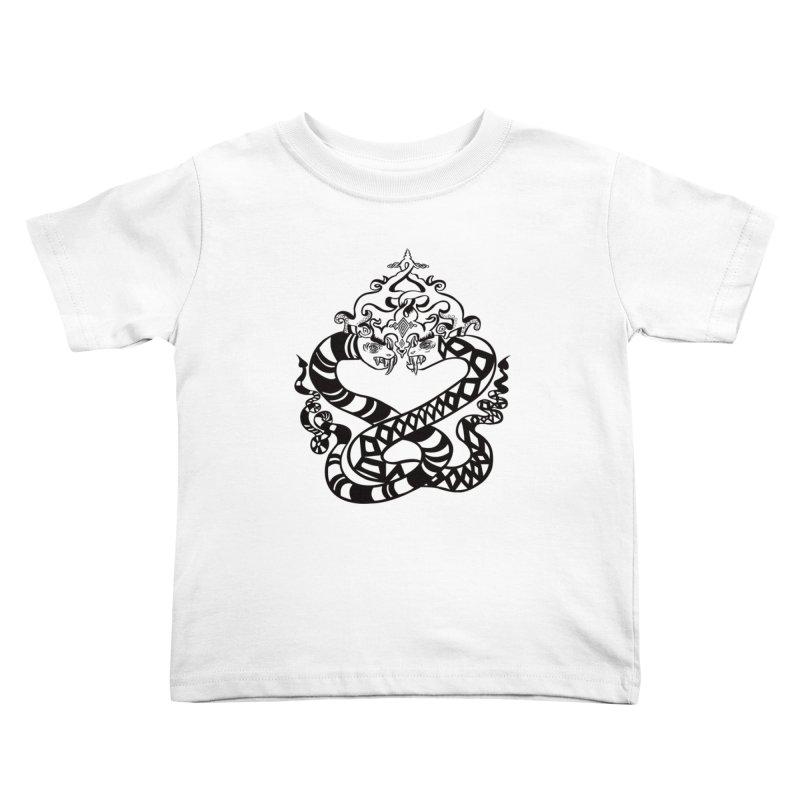 Lovelocked Kids Toddler T-Shirt by Julie Murphy's Artist Shop