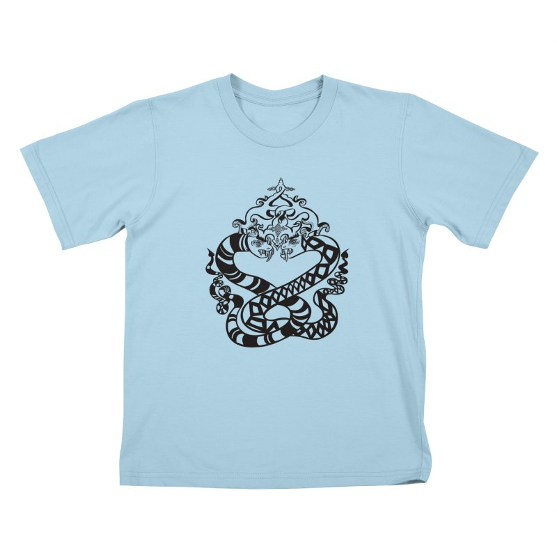 Lovelocked Kids T-Shirt by Julie Murphy's Artist Shop
